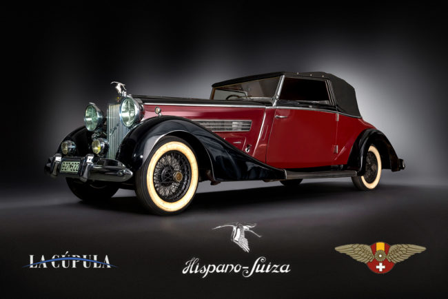 Hispano Suiza 7 coche antiguo old car hotel hispano 7 suiza entrada